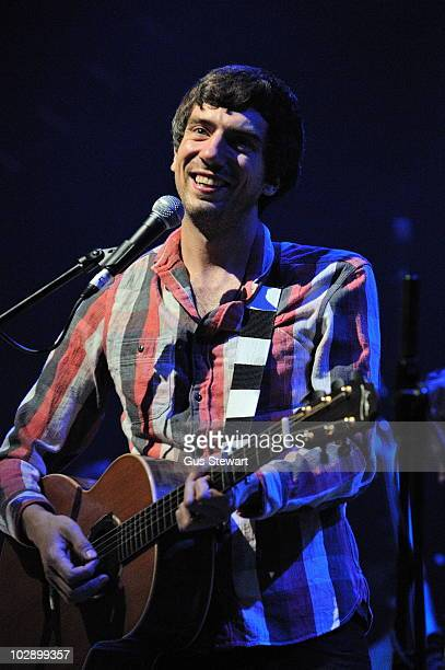 Gary Lightbody performs on stage at The Forum on July 14 2010 in London England