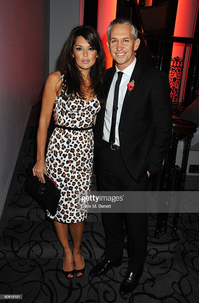 Gary Lineker and Danielle Bux attend the opening party of The Red Room, on November 2, 2009 in London, England.