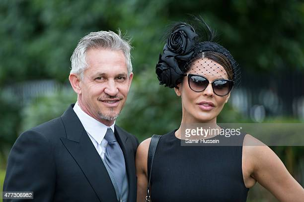 Gary Lineker and Danielle Lineker attend day 1 of Royal Ascot at Ascot Racecourse on June 16 2015 in Ascot England