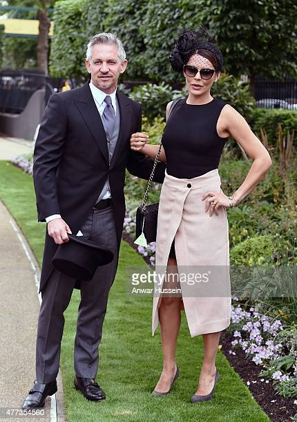 Gary Lineker and Danielle Lineker attend day 1 of Royal Ascot on June 16 2015 in Ascot England