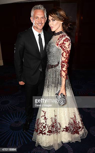 REQUIRED Gary Lineker and Danielle Lineker attend The Asian Awards 2015 at The Grosvenor House Hotel on April 17 2015 in London England