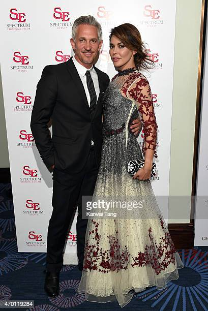 Gary Lineker and Danielle Lineker attend The Asian Awards 2015 at The Grosvenor House Hotel on April 17 2015 in London England