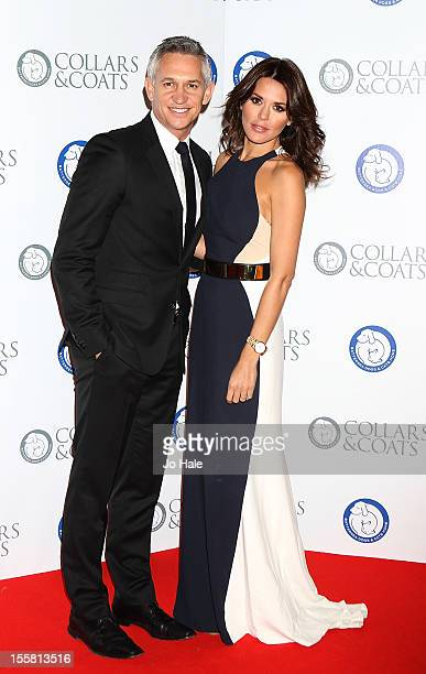 Gary Lineker and Danielle Lineker attend the Collars Coats Gala Ball at Battersea Evolution on November 8 2012 in London England