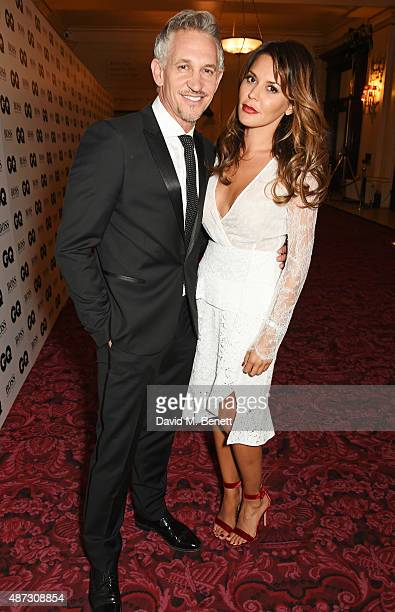 Gary Lineker and Danielle Lineker attend the GQ Men Of The Year Awards after party at The Royal Opera House on September 8 2015 in London England
