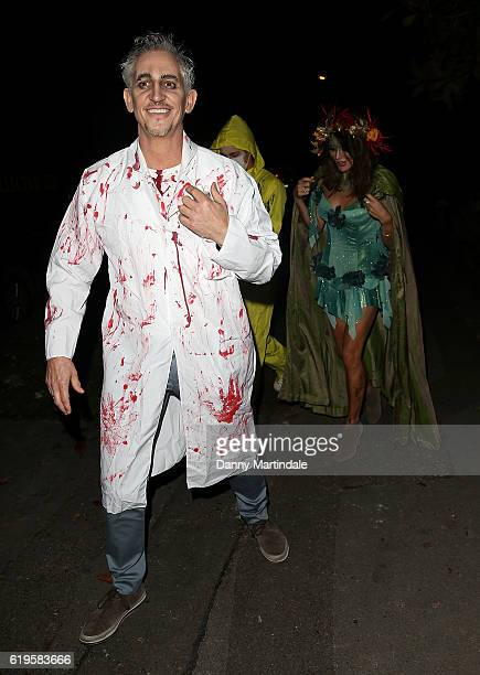 Gary Lineker and Danielle Lineker attends Jonathan Ross's Halloween Party on October 31 2016 in London England