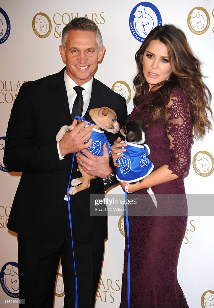 Gary Lineker and Danielle Lineker attends the annual Collars and Coats gala ball in aid of Battersea Dogs & Cats home at Battersea Evolution on November 7, 2013 in London, England.