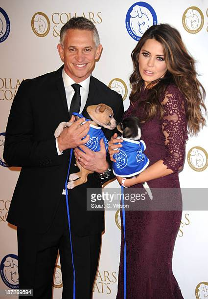 Gary Lineker and Danielle Lineker attends the annual Collars and Coats gala ball in aid of Battersea Dogs Cats home at Battersea Evolution on...