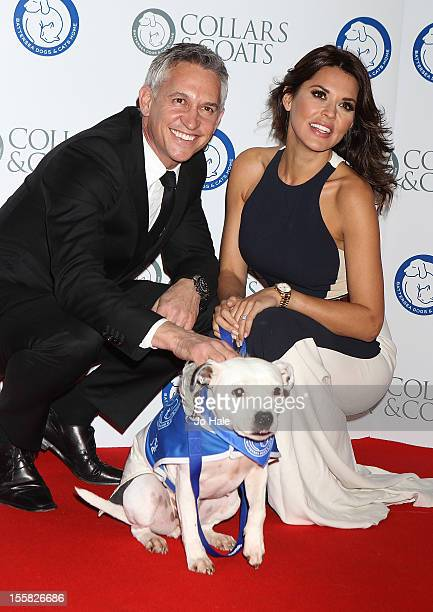 Gary Lineker and Danielle Lineker attends the Collars Coats Gala Ball at Battersea Evolution on November 8 2012 in London England