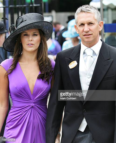 Gary Lineker And Girlfriend Danielle Bux On Day Two Of Royal Ascot In Berkshire
