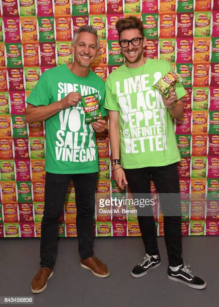 Gary Lineker and Henry Holland attend the Walkers Choose or Lose Campaign Launch Event on September 6 2017 in London England
