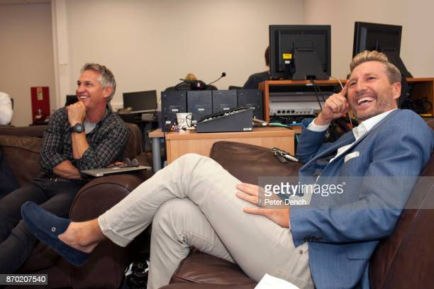 Gary Lineker and Robbie Savage watch the Saturday football premiership matches at the BBC Match of the Day is the BBC's main football television...