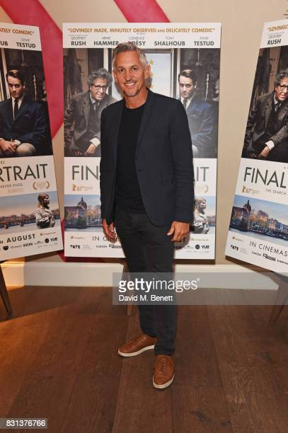 Gary Lineker attends the Gala Screening of 'Final Portrait' at The Ham Yard Hotel on August 14 2017 in London England