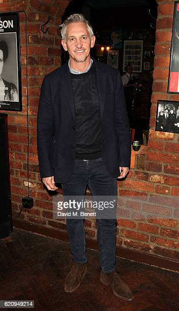 Gary Lineker attends the press night after party for 'Dead Funny' at Joe Allen Restaurant on November 3 2016 in London England