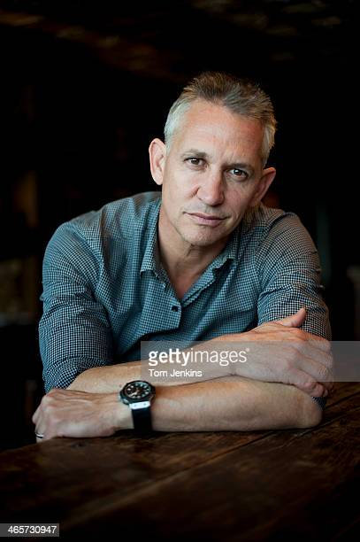 Gary Lineker former footballer now television presenter poses for a portrait at the Electric House Club on September 26 2013 in Notting Hill...