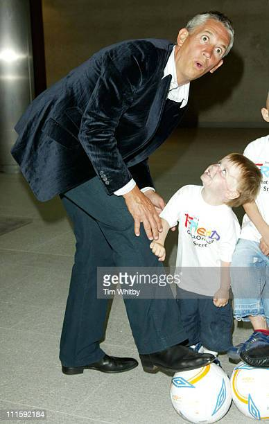 Gary Lineker with Tommy Morgan during Bull and Bear Appeal Photocall at Great Ormond Street Hospital in London Great Britain