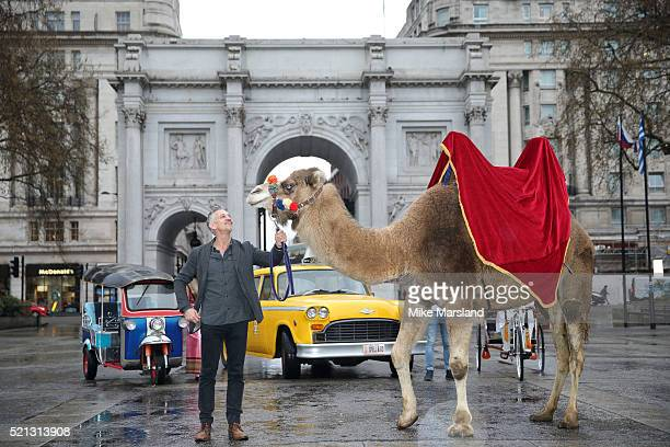 Gary Linker launches 'Walkers Spell Go' at Marble Arch on April 15 2016 in London England