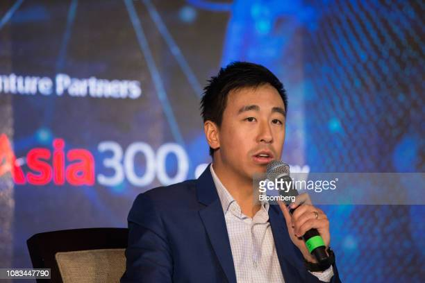 Gary Liu chief executive officer of South China Morning Post Publishers Ltd speaks during the Nikkei Innovative Asia Forum in Singapore on Thursday...