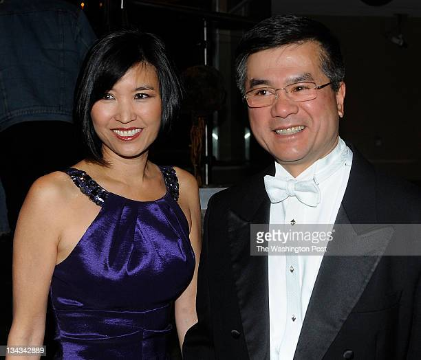 Gary Locke and wife Monaarrive for the Gridiron Dinner at the Renaissance Hotel in Washington DC on March 12 2011