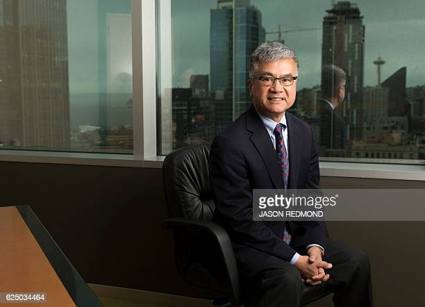 Gary Locke Former US ambassador to China is pictured at the offices of Davis Wright Tremaine LLP in Seattle Washington on November 15 2016 Gary Faye...