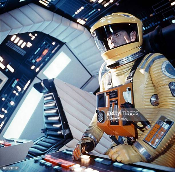 Gary Lockwood controls the space station in a scene from the film '2001 A Space Odyssey' 1968