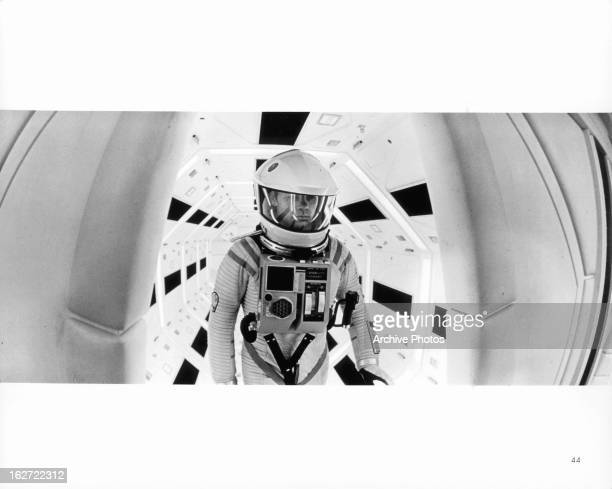 Gary Lockwood prepares to leave on a mission of inspection in a scene from the film '2001 A Space Odyssey' 1968