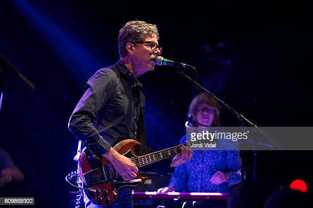 Gary Louris and Karen Grotberg of The Jayhawks perform on stage at Sala Apolo on September 22 2016 in Barcelona Spain