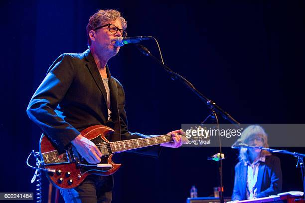 Gary Louris and Karen Grotberg of The Jayhawks perform on stage during Take Root Festival 2016 at Oosterpoort on September 10 2016 in Groningen...