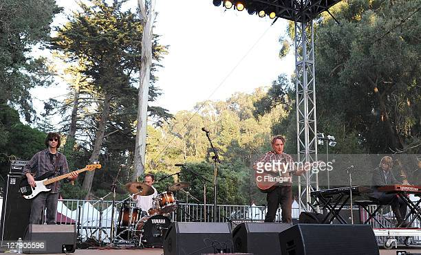 Gary Louris Mark Olson Tim O'Reagan Karen Grotberg and Marc Perlman of The Jayhawks perform during day 3 of the 2011 Hardly Strictly Bluegrass...