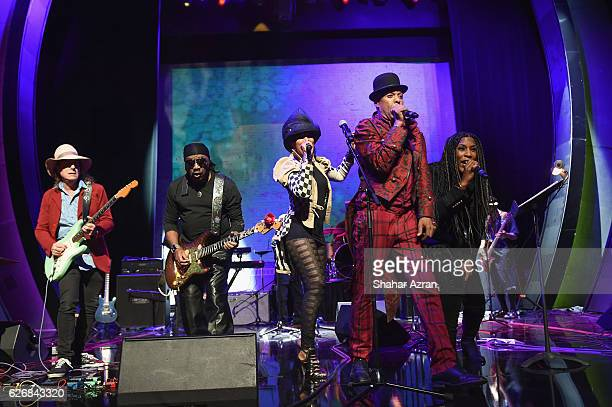 Gary Lucas Brnie Isley Nona Hendryx Angelo Moore of Fishbone and Liv Warfield perform at The Apollo Theater on November 26 2016 in New York City