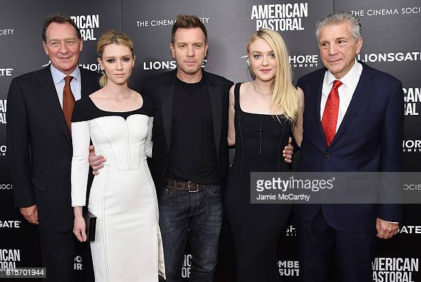 Gary Lucchesi Valorie Curry Ewan McGregor Dakota Fanning and John Romano attend a screening of American Pastoral hosted by Lionsgate Lakeshore...