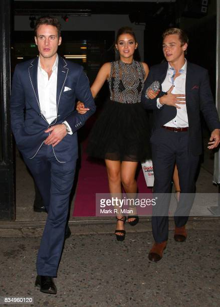 Gary Lucy Jacqueline Jossa and Ben Hardy depart the Inside Soap Awards on October 21 2013 in London England