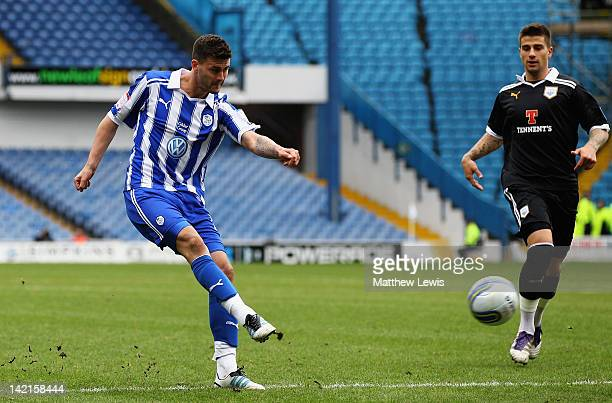 Gary Madine of Sheffield Wednesday scores a goal during the npower League One match between Sheffield Wednesday and Preston North End at Hillsborough...