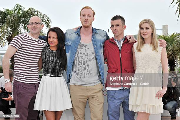 Gary Maitland Jasmin Riggins William Ruane Paul Brannigan and Siobhan Reilly at the photo call for The Angel's Share during the 65th Cannes...