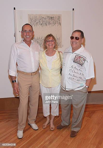 Gary Majka Dr Janet Rosen and Jeffrey Degen attend Simon Ma's World Tour Exhibition Heart Water Ink US Premiere At The Patricia And Phillip at Frost...