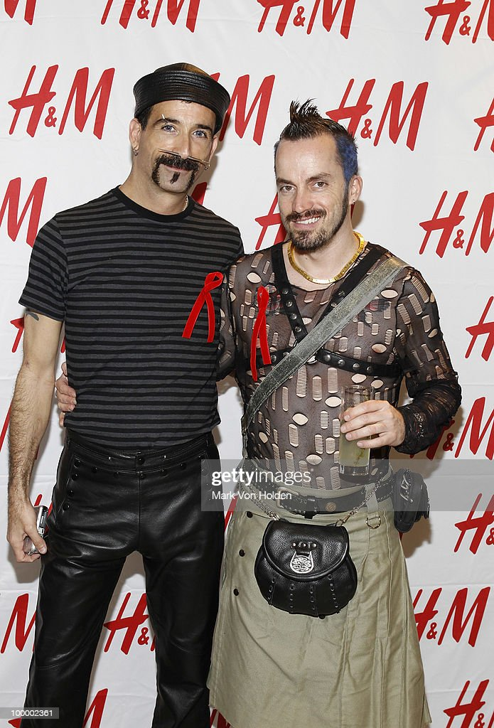 Gary Marcello and Robert Ordonez attends H&M's launch of Fashion Against AIDS at H&M Fifth Avenue on May 19, 2010 in New York City.