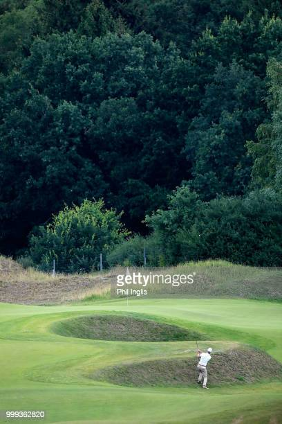 Gary Marks of England in action during Day Three of the WINSTONgolf Senior Open at WINSTONlinks on July 15 2018 in Schwerin Germany