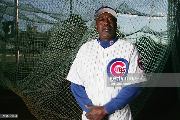 Gary Matthews of the Chicago Cubs poses during Spring Training Photo Day at Fitch Park on February 25 2005 in Mesa Arizona