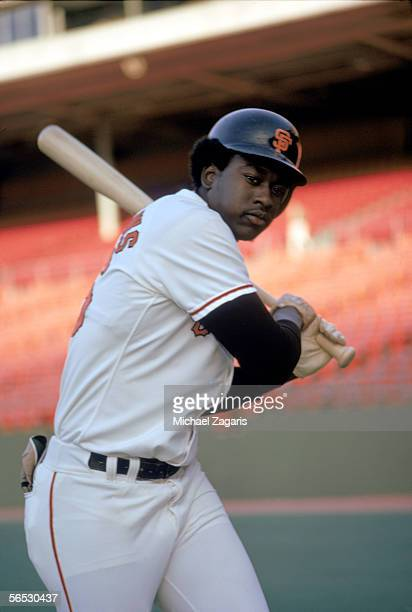 Gary Matthews of the San Francisco Giants poses with his bat before a May1973 season game Gary Matthews played for the Giants from 19721976