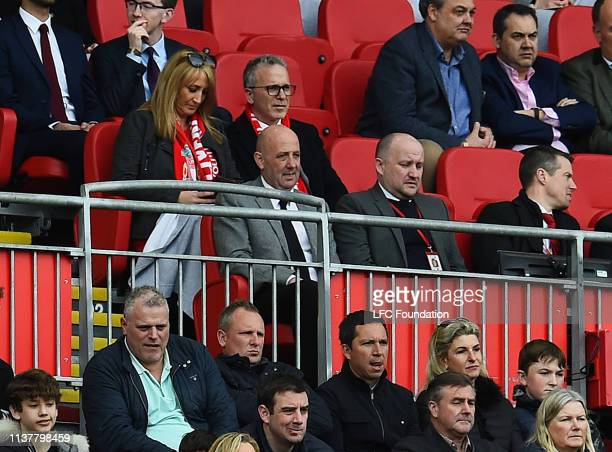 Gary Mcallister assistant manager of Rangers watching from the stands during the friendly match between Liverpool FC Legends and AC Milan Glorie at...