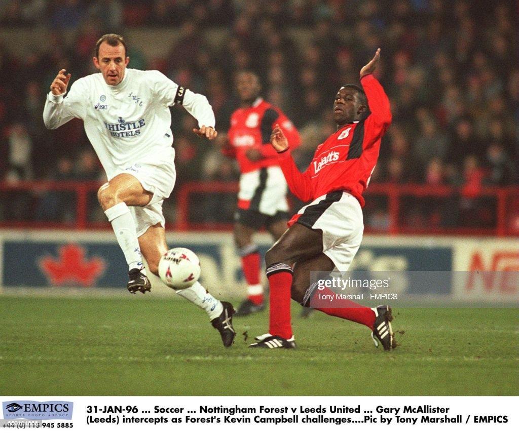Gary McAllister, Leeds United intercepts the ball as Nottingham... News  Photo - Getty Images