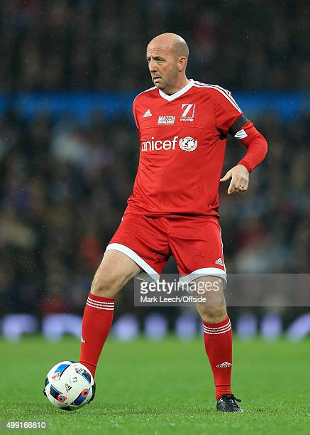 Gary McAllister of GB in action during David Beckham's Match For Children in aid of UNICEF between a Great Britain XI and a Rest of the World XI at...