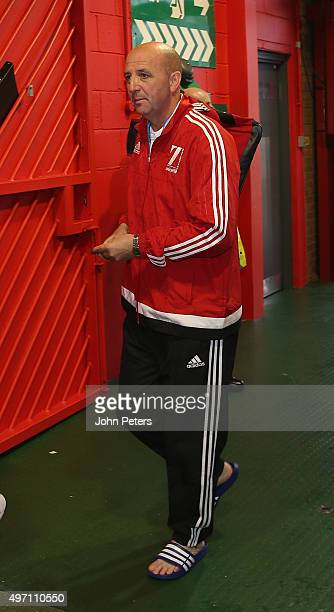 Gary McAllister of Great Britain and Ireland arrives ahead of the David Beckham Match for Children in aid of UNICEF between Great Britain and Ireland...