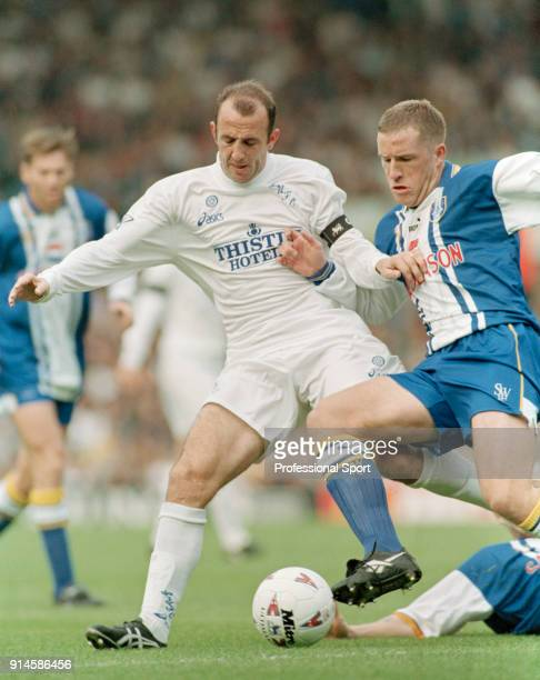 Gary McAllister of Leeds United in action during the FA Carling Premiership match between Leeds United and Sheffield Wednesday at Elland Road on...