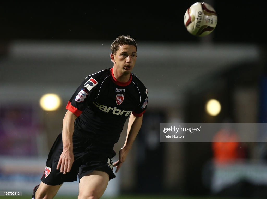 Gary McDonald of Morecambe in action during the npower League Two match between Northampton Town and Morecambe at Sixfields Stadium on November 20, 2012 in Northampton, England.
