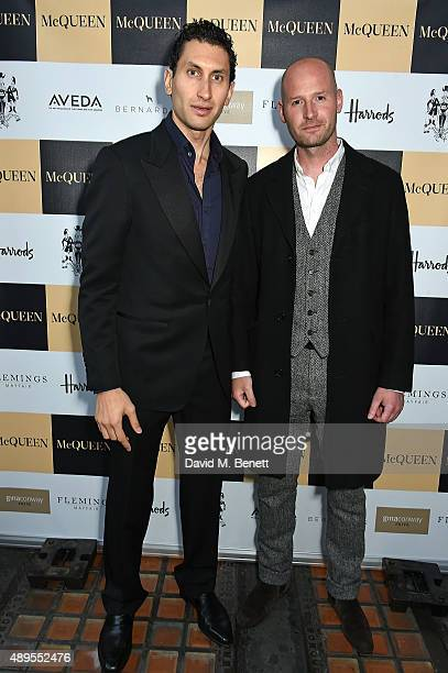 Gary Mcqueen and Karim Al Fayed attend the exclusive viewing of 'McQueen' hosted by Karim Al Fayed for Lonely Rock Investments during London Fashion...