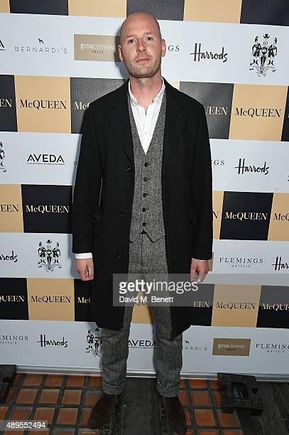 Gary Mcqueen attends the exclusive viewing of 'McQueen' hosted by Karim Al Fayed for Lonely Rock Investments during London Fashion Week at Theatre...