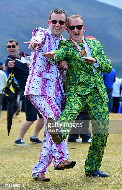 Gary McShane and Ciaran Murphy winners of the Emirates Wacky Trousers' day at the Dubai Duty Free Irish Open hosted by the Rory Foundation at Royal...