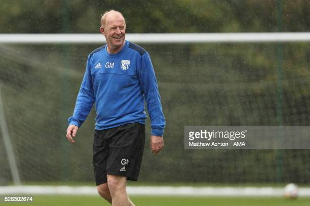Gary Megson Assistant Head Coach of West Bromwich Albion during a training session on August 3 2017 in West Bromwich England