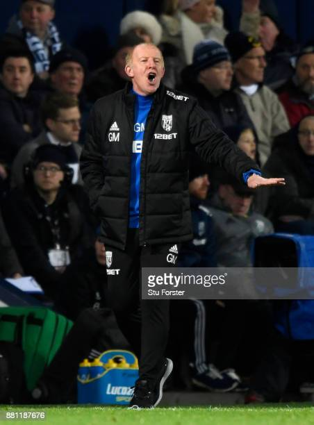 Gary Megson Caretakermanager of West Bromwich Albion m akes a point during the Premier League match between West Bromwich Albion and Newcastle United...