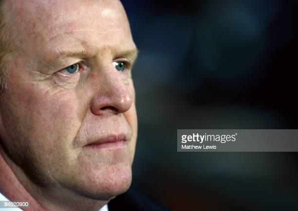Gary Megson, manager of Bolton Wanderers looks on during the Barclays Premier League match between Blackburn Rovers and Bolton Wanderers at Ewood...